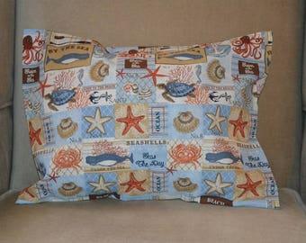 Travel Pillow Case / Accent Pillow Case LAKE HOUSE / BEACH House / Cabin / Beach House Decor / Ocean / Seashells
