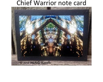 photography notecard,wall art,native tree spirit art,warrior art,native Indian art,rustic art card,indian spirit warrior,native notecard
