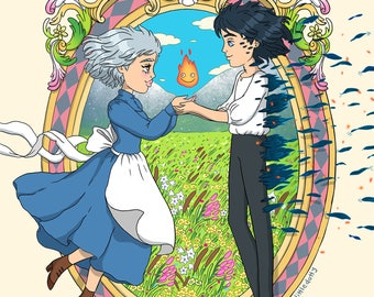 Howl's Moving Castle A3 Print