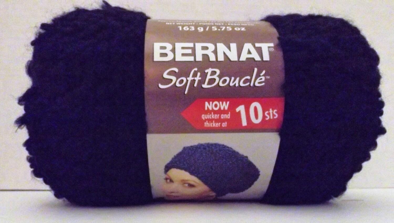 Bernat Soft Boucle Yarn ~ Colour # 46040 Ebony ~ 163 Grams/5.75 ...