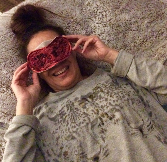 Eye mask   Handmade embellished ,with glitter ,seed beads and pearl