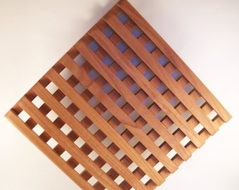 Wood Trivet, Large Cherry Wooden Trivet, Wooden Trivet