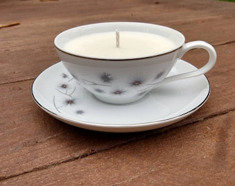 Pomegranate - Soy Wax Tea Cup and Saucer Candle
