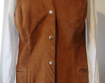 Vintage tan suede hippie boho indian waistcoat