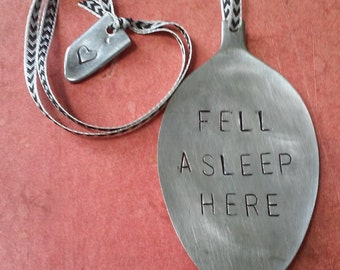 Fell Asleep Here Ribbon Bookmark