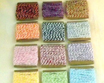 Cotton String Choice of 3 Divine Twine Bundles- 10 yards each craft supply gift wrap
