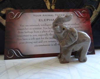 Hand Carved *ELEPHANT* Animal Spirit Totem for Spiritual Jewelry or Crafts