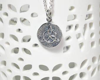 Silver Protective Charm, Protection Amulet, Sterling Silver Pendant, Amulet Necklace, Magical Charm, Mystical Pendant, Charm Necklace