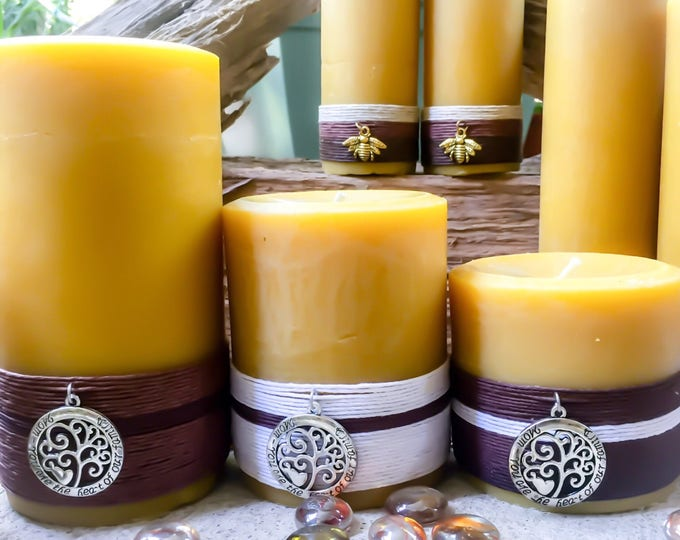 100% Pure Beeswax Candle gift set