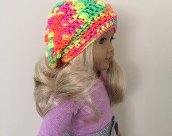"""18"""" doll slouchy hat - suitable for 18"""" dolls such as American Girl, Gotz Precious Day"""