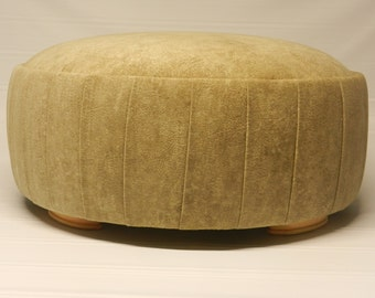 Versailles Round Ottoman with pleated sides
