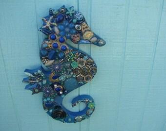Small Blue Seahorse #1113