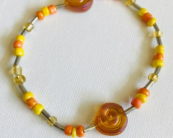 Yellow Swirl Bracelet