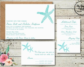 Starfish - Wedding Invitation - Digital