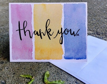 Thank You Cards; Green branch Thank You Card; Tricolor Thank You Cards; A2 4.25x5.5