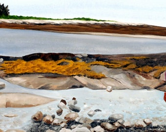 Ocean Tide Pool Giclee Seascape Print, Maine Coast, Tide Pool Print, Ocean Print