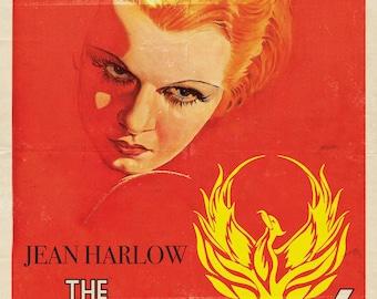 Retro Jean Harlow Phoenix Vintage A4 A3 A2 Movie Poster Print
