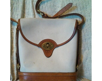 Authentic Vintage Leather White Dooney and Bourke Crossbody Bag Purse
