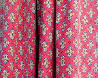 Français Provençal indienne imprimé coton Rideau vintage design traditionnel authentique profond ourlet double largeur pays