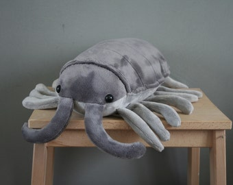 Pjotr Pillbug plush, bug plush, cute woodlouse plushie, 14 inch, ready to ship