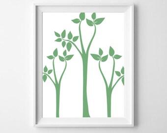 Tree Print, Abstract Tree Art, Printable Wall Art, Modern Wall Art, Simple Decor, Minimalist Art