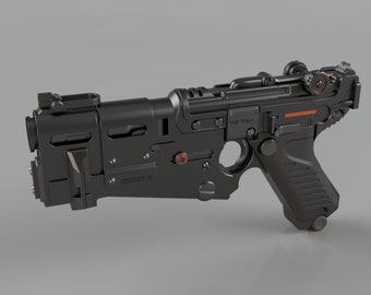 Wolfenstein II: The New Colussus Pistol (Luger 61) - Model for 3D Printing