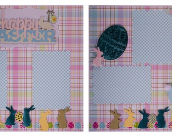 Pre-made Scrapbook Pages: Happy Easter #13
