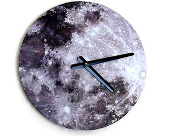 Moon Wall Clock, Space Theme Zero Waste Home Decor and Wall Art