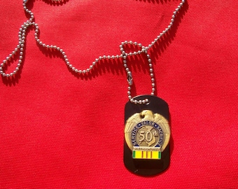 Vietnam Veteran Vietnam War 50th Anniversary Dog Tag
