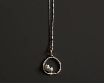 Flower Pendant, Nature Pendant, Unique Necklace, Silver Flowers Necklace, Pendant Necklace
