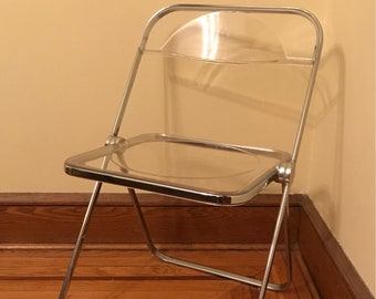"Italian Lucite ""Plia"" Folding Chair by Castelli"