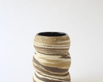 ceramic marbled stoneware vase