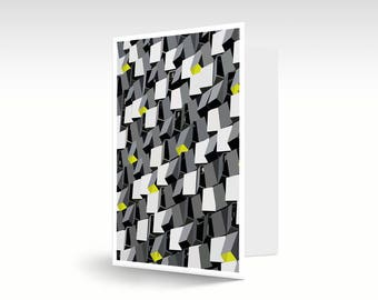 Sheffield / Cheese Grater / Abstract / Greeting / Art Card / A6