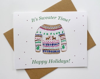 Ugly Sweater Greeting Card