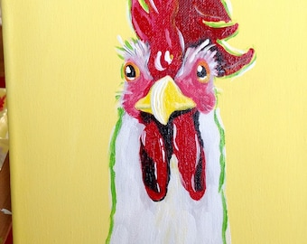 Original Acrylics Rooster Artwork