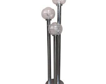 Floor Lamp Three Chrome Stems 70 Years