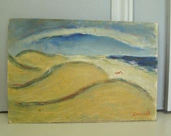 vintage 1950's George Daniel oil painting