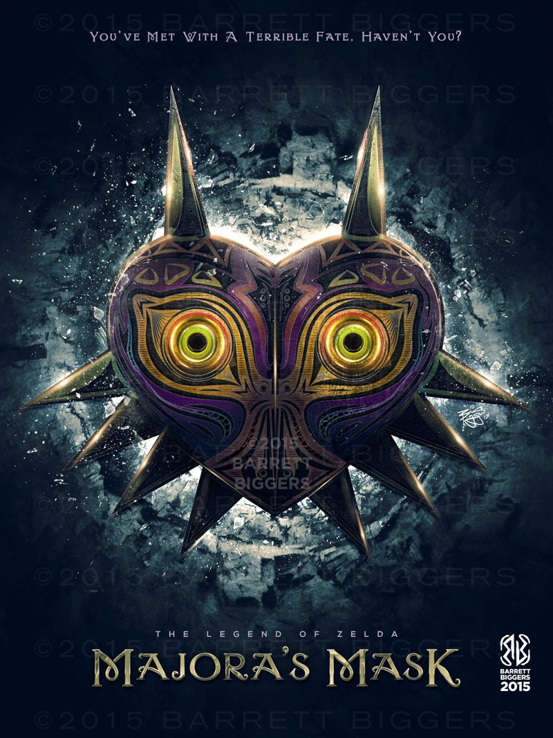 Legend Of Zelda Majora S Mask Epic Game Poster Signed
