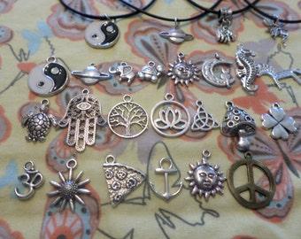 Saturn Necklace, Saturn Choker, Choker Necklace, Charm Necklace, Charm Choker, Saturn