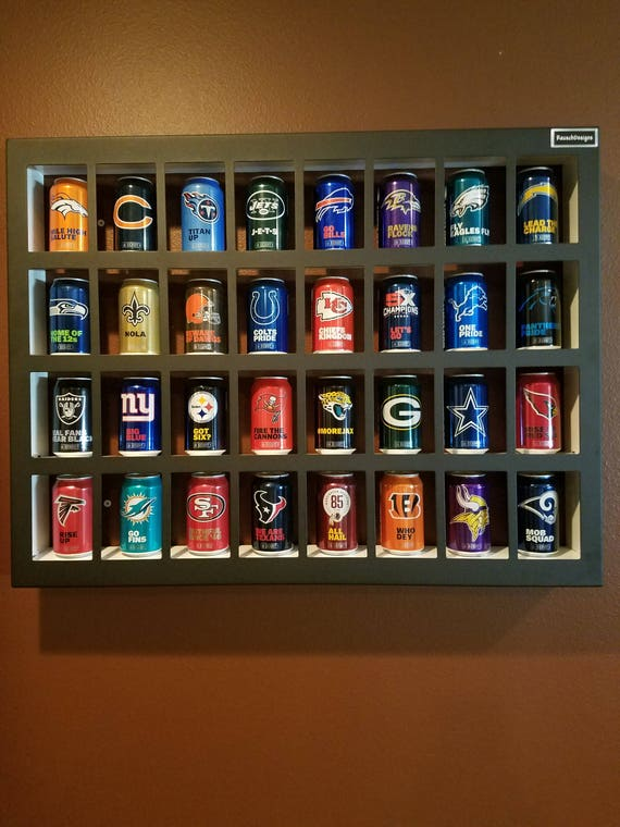 NFL Beer Can Display Case