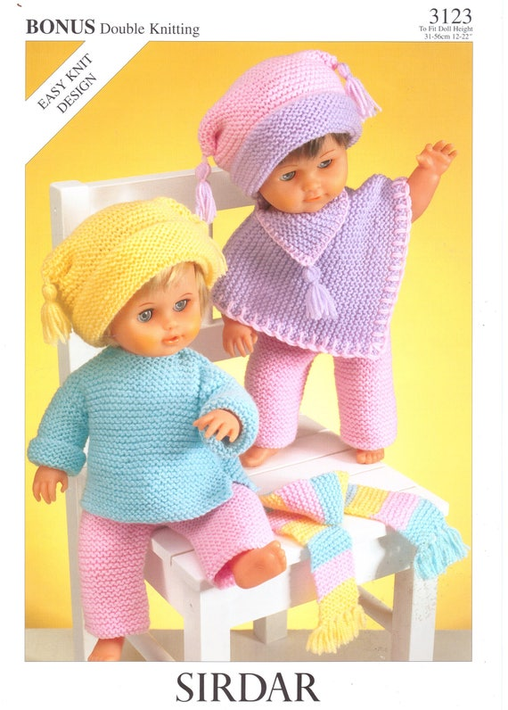 Baby Dolls Knitting Patterns Easy Knit Patterns Jumper Hat Poncho ...