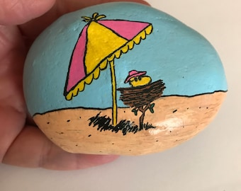 Woodstock at the Beach Painted Rock