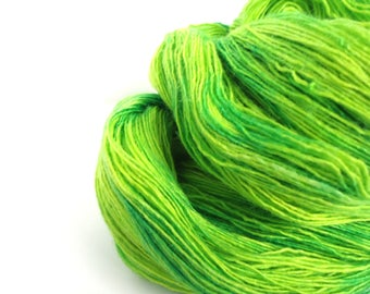 Hand dyed Merino Silk Lace yarn hand painted: A festival of hope