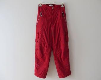 Vasaloppet Men Snow Red Ski Suit Retro Overall Snowsuit Hipster Snow Pants Outdoor Winter Wear Gear Jumpsuit Snowboard Medium Gift to Son