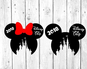 2018 Disney Trip svg, disney svg, mickey minnie mouse svg, clipart, dxf,png, cut files for cricut and silhouette