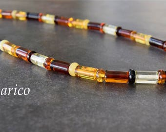 Necklace baltic amber for men
