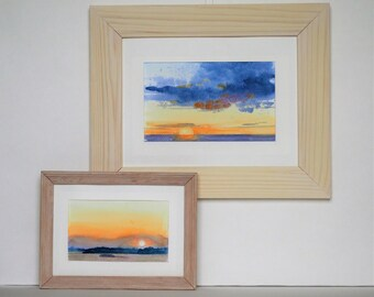 Sunsets, a set of 2 paintings