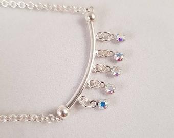 Swarovski Crystal necklace in 925 silver