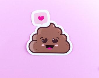 Sticker emoji Poo like XL - vinyl high quality