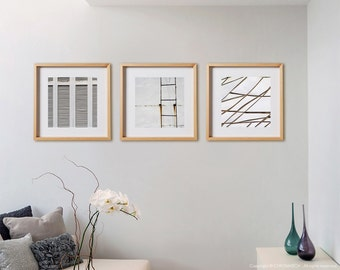 White 3C Print Collection.  Detail photography, urban decor, wall art, artwork, large format photo.